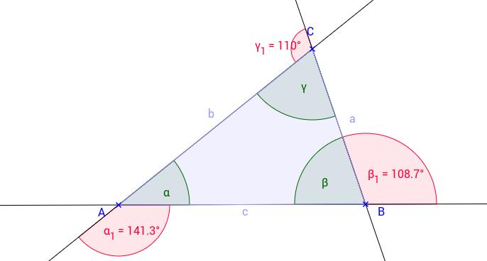 Die Summe der Außenwinkel eines Dreiecks