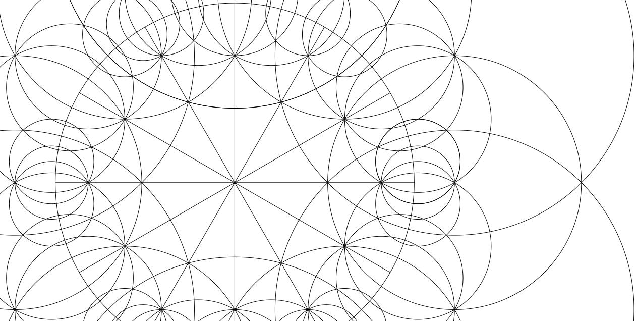 Escher Circle Limit 1 construction