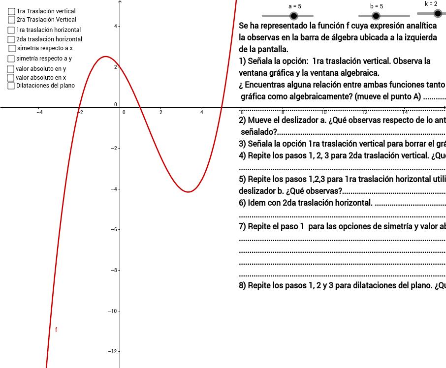 Libro GeoGebra para tercero de bachillerato Matemática 1.