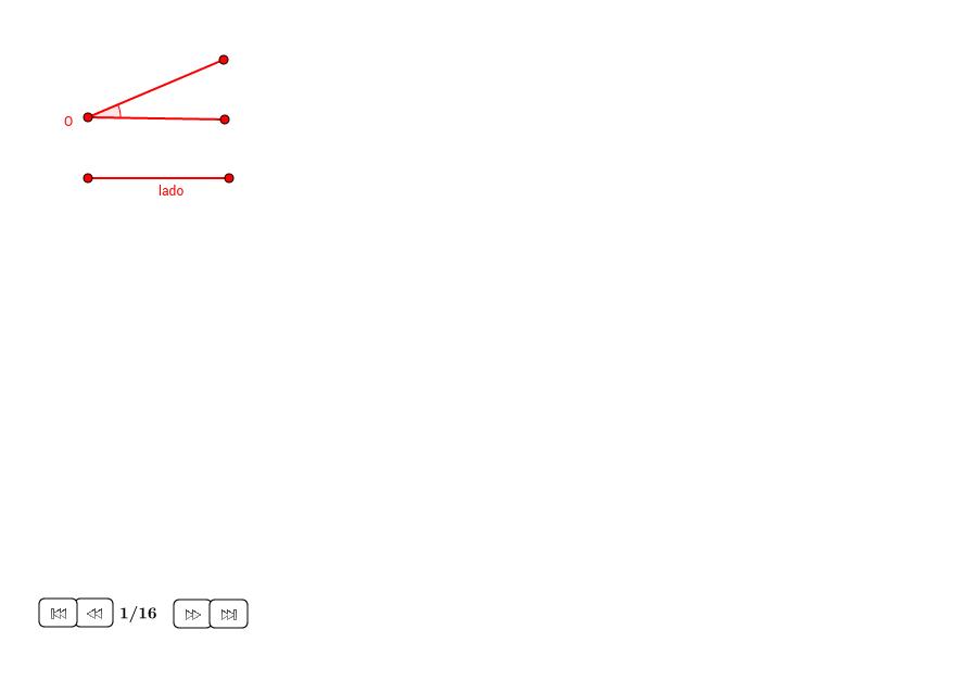 Triángulo isósceles dados el lado y el ángulo de la base