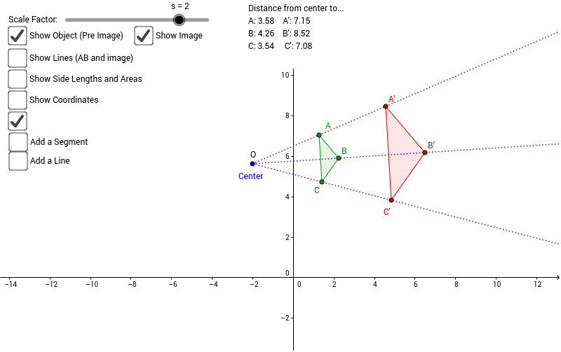Dilation Properties GeoGebra – Geometry Dilations Worksheet
