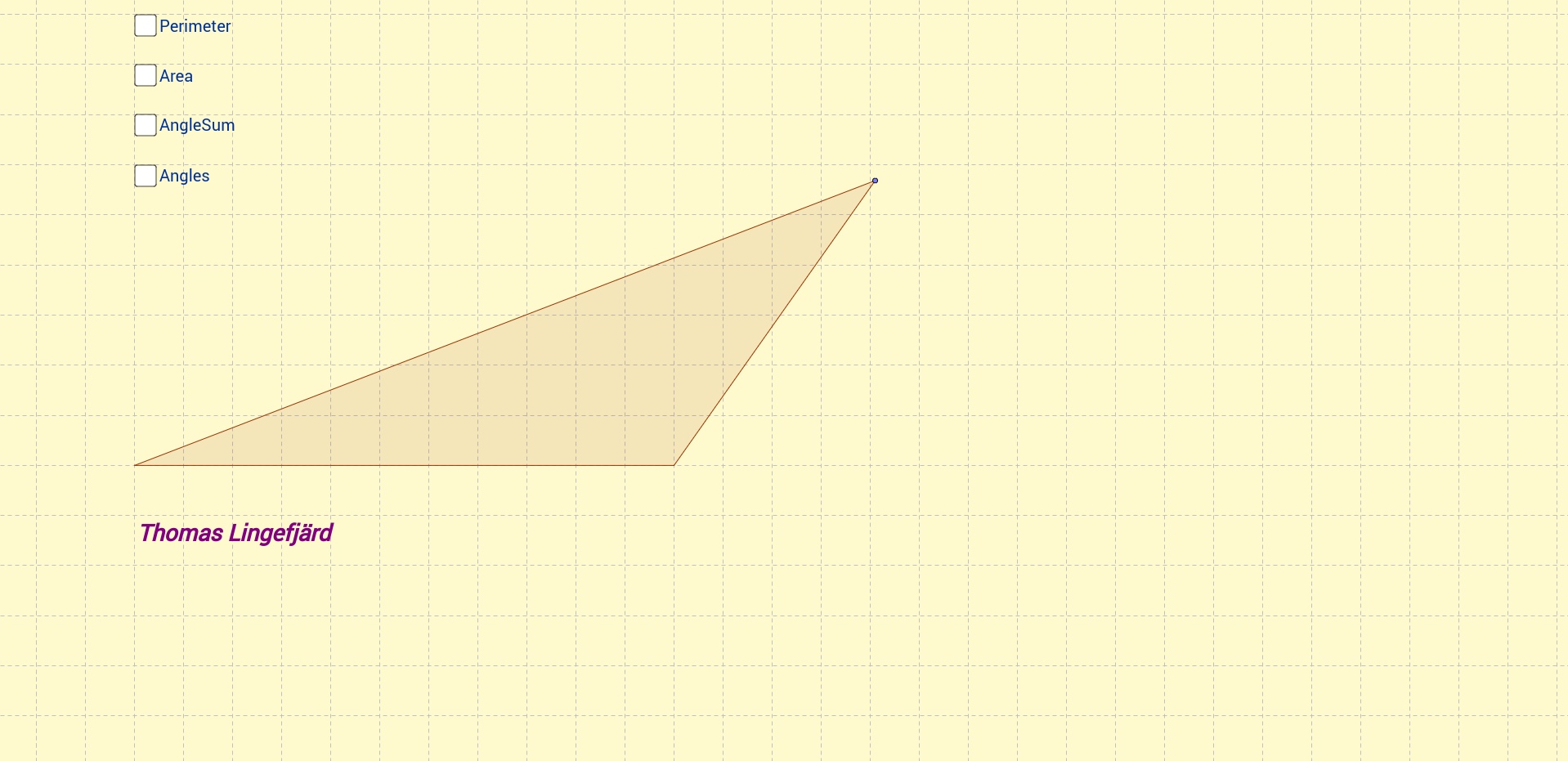 Triangle with fixed perimeter
