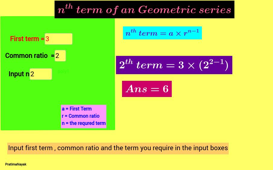 nth term of GP calculator