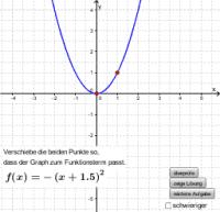 Graphen von quadratischen Funktionen: Graph bestimmen
