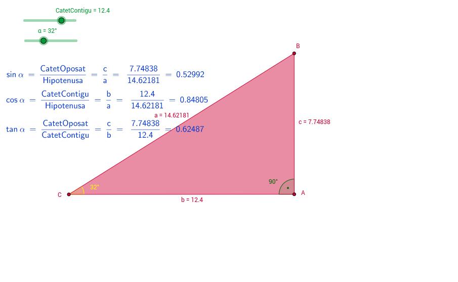 Raons trigonomètriques dels angles aguts