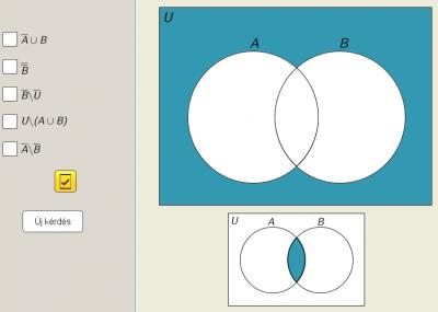 Halmazműveletek Venn-diagram segítségével 3.