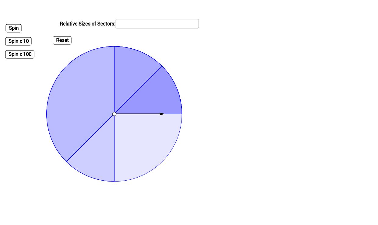 worksheet Probability Spinner probability spinner geogebra