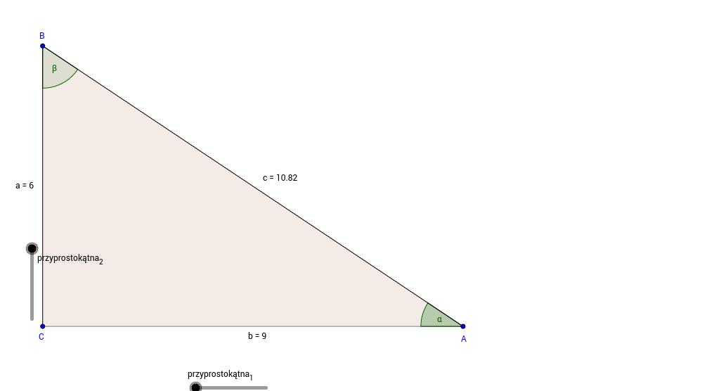 Trygonometria w trójkącie prostokątnym