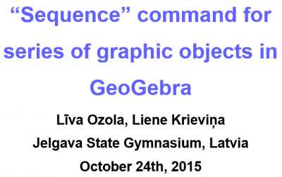"""Sequence"" command for series of graphic objects in GeoGebra"