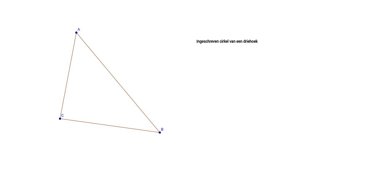 Ingeschreven cirkel van een driehoek