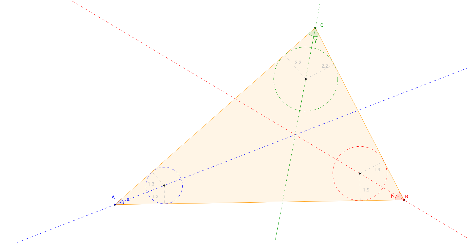 GDRS – Winkelhalbierende im Dreieck