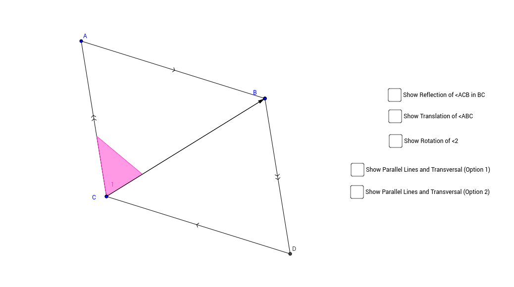 Parallel Lines and Transformations in a Parallelogram
