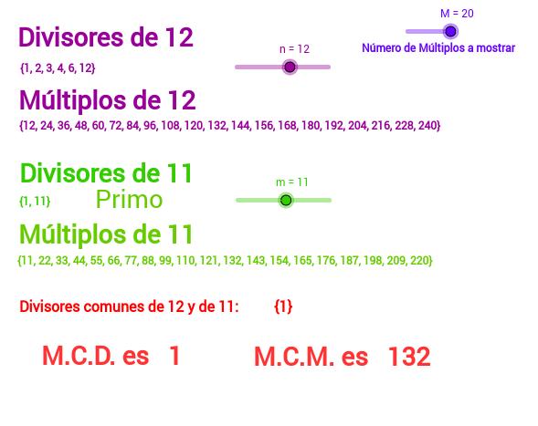M.C.D y M.C.M