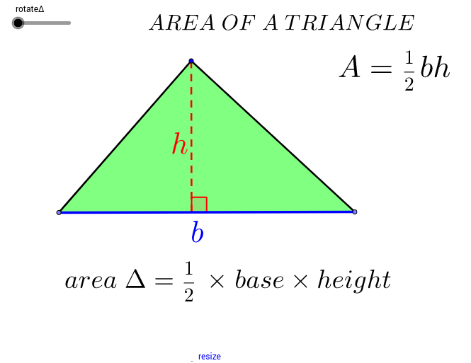 how to get a triangle area