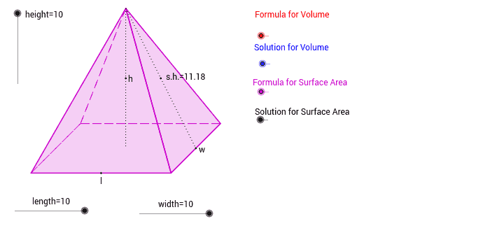 Rectangular Pyramid - GeoGebra
