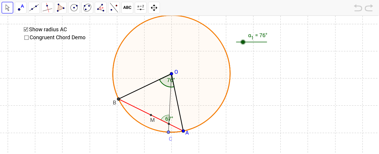 Central Angles Chords and Minor Arcs GeoGebra – Central Angles Worksheet