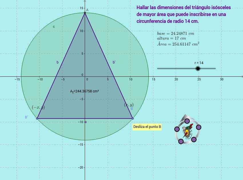 Triángulo Inscrito en una Circunferencia