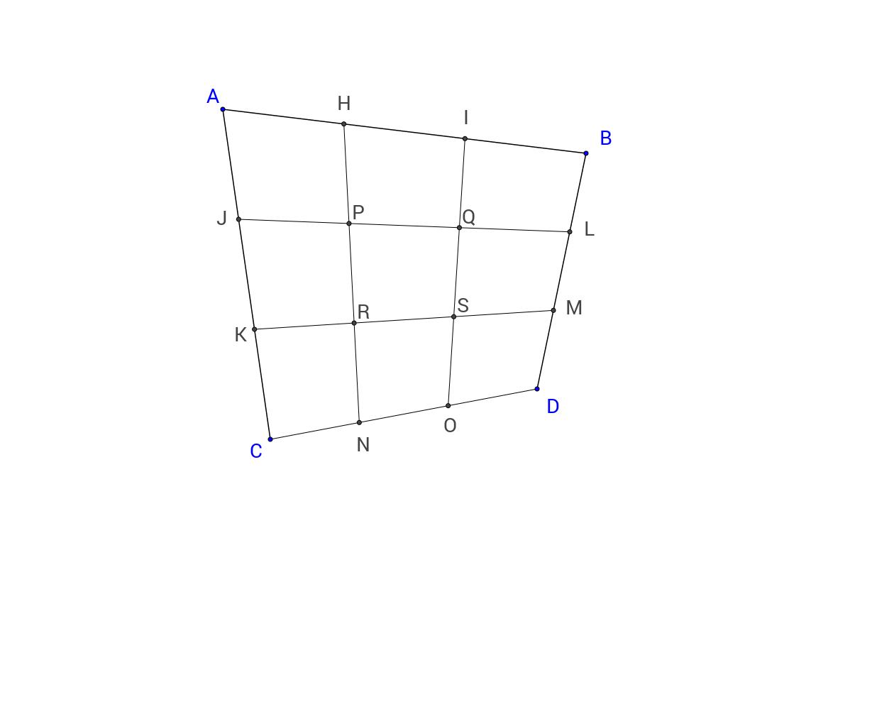 사각형의 3등분점들을 연결한 도형