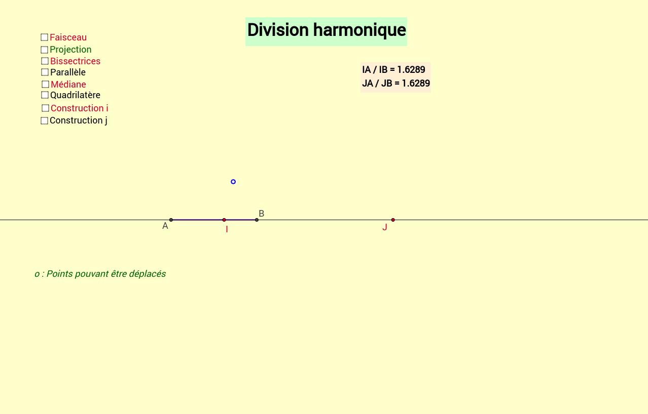 Division et faisceaux harmoniques