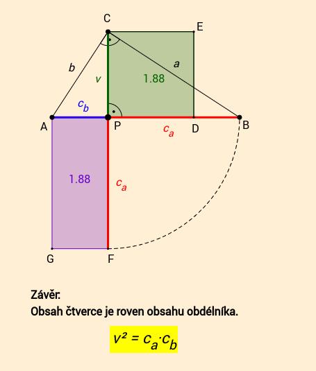 Euklidova věta o výšce