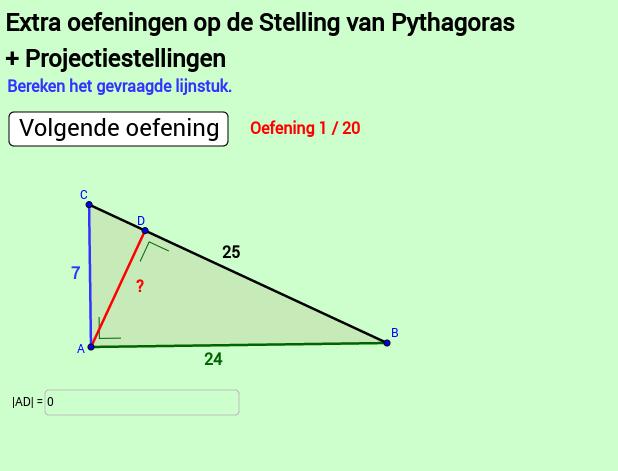 Extra oef 2 Pythagoras