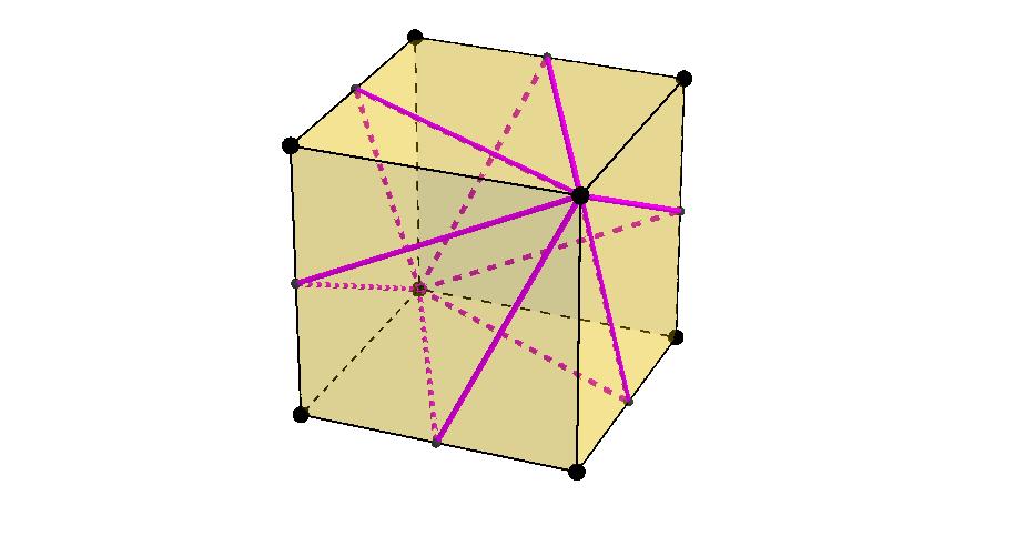Cube Geometry: Shortest Path Between Opposite Vertices