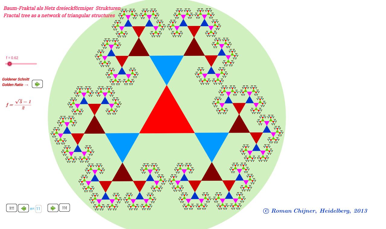 Baum-Fraktal als Netz dreiecksförmiger Strukturen