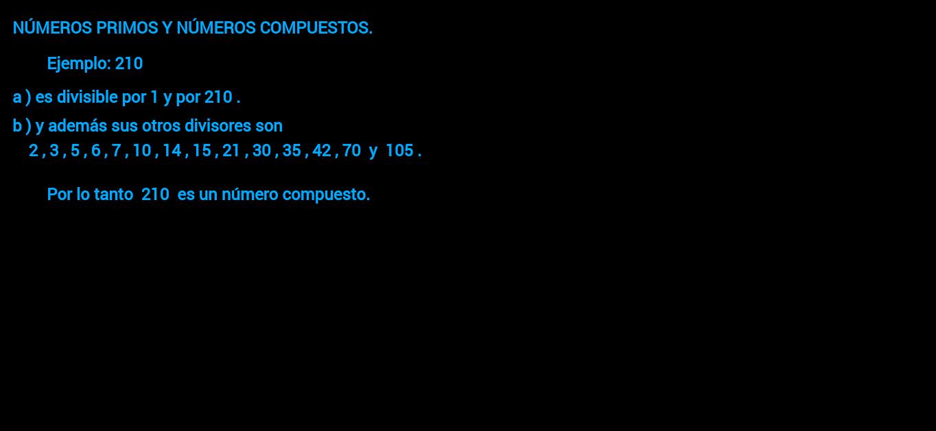 Números naturales - Primos y compuestos ( ejemplos 1 )