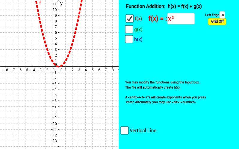 Adding Functions – GeoGebra