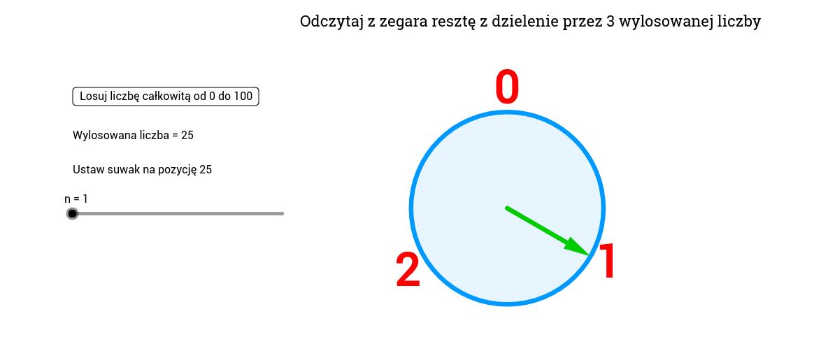 Wyznaczenie reszty z dzielenia (Zegar mod 3)