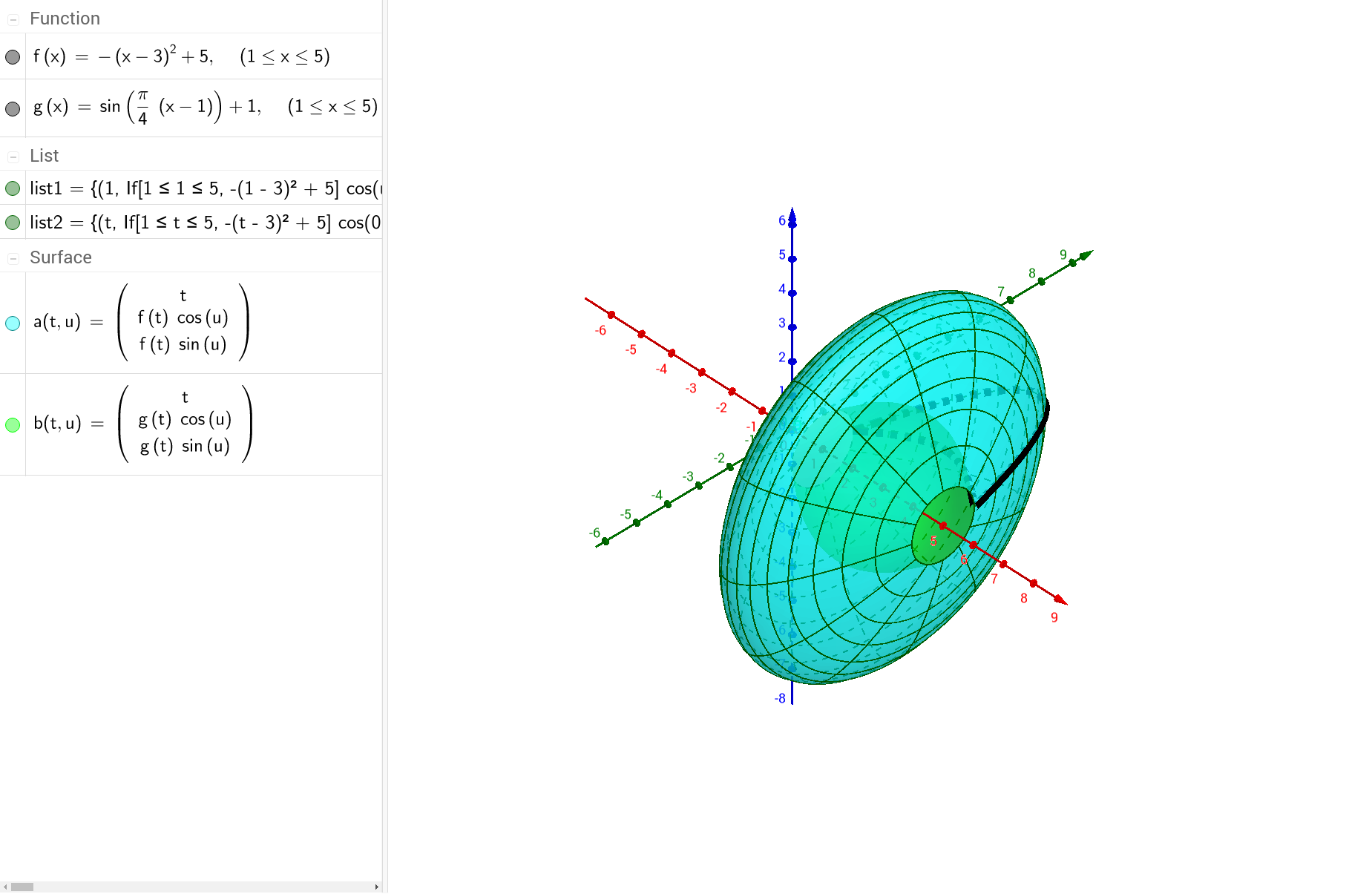3d solid of rotation region between two intersecting curves 3d solid of rotation region between two intersecting curves geogebra pooptronica