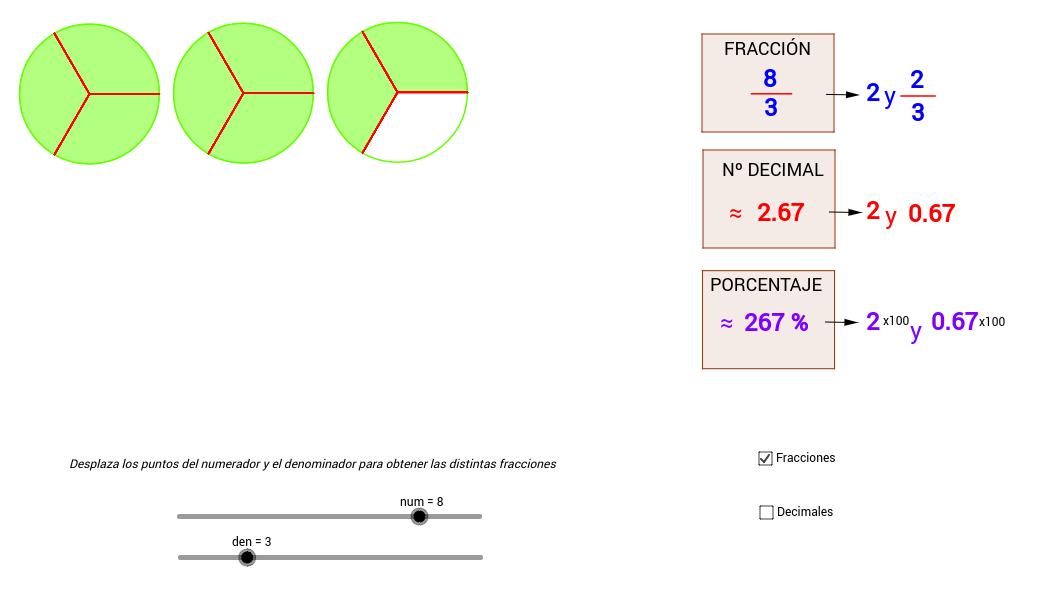 Copia de Fracciones, decimales y porcentajes