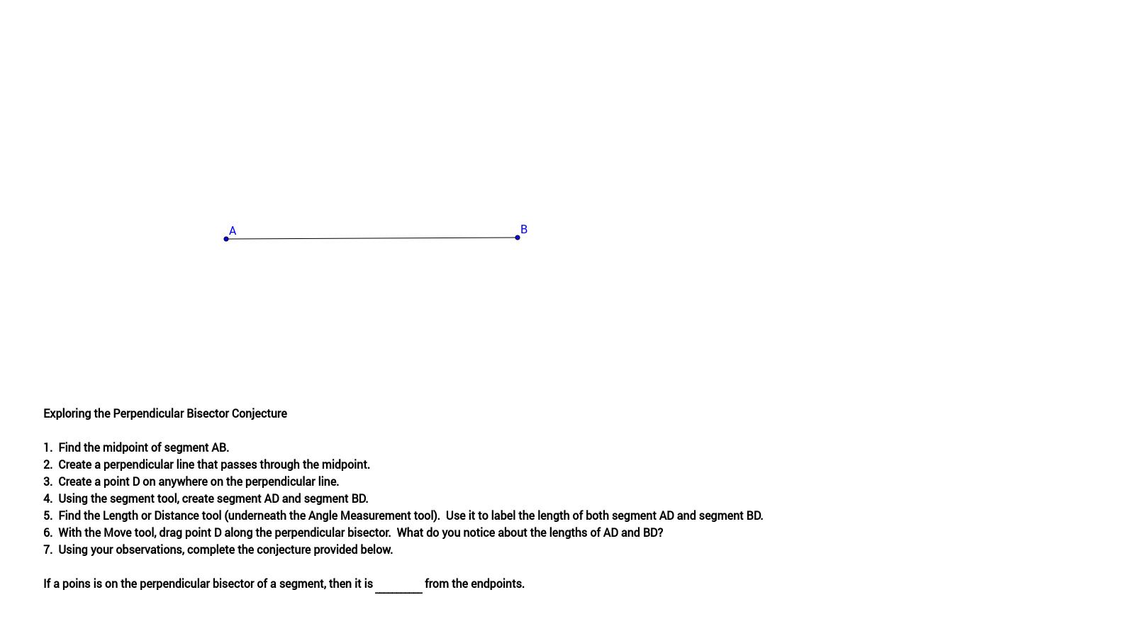 worksheet Perpendicular Bisector Worksheet properties of perpendicular bisectors geogebra