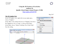 Workshop: Using 3D Features of GeoGebra