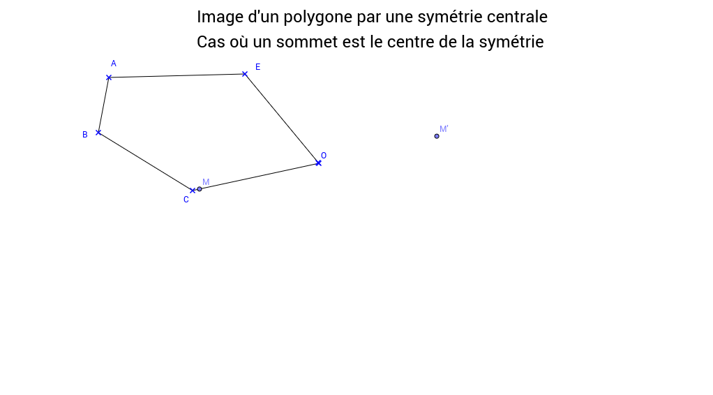 Image d'un polygone par une symétrie centrale 2