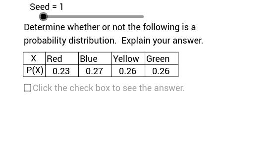 Identifying Probability Distributions