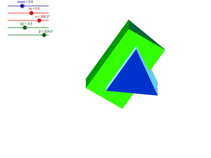 Dwa graniastosłupy prawidłowe trójkatne - 3