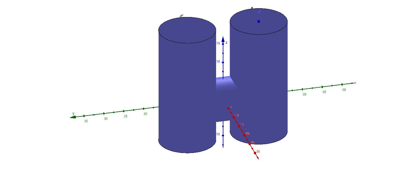 raccordo tra elementi cilindrici