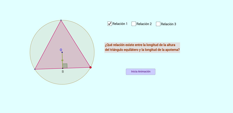 Algunas relaciones en polígonos regulares