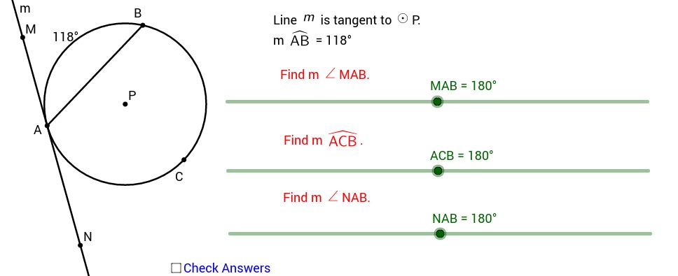 Arc with Tangent Measures - Quiz