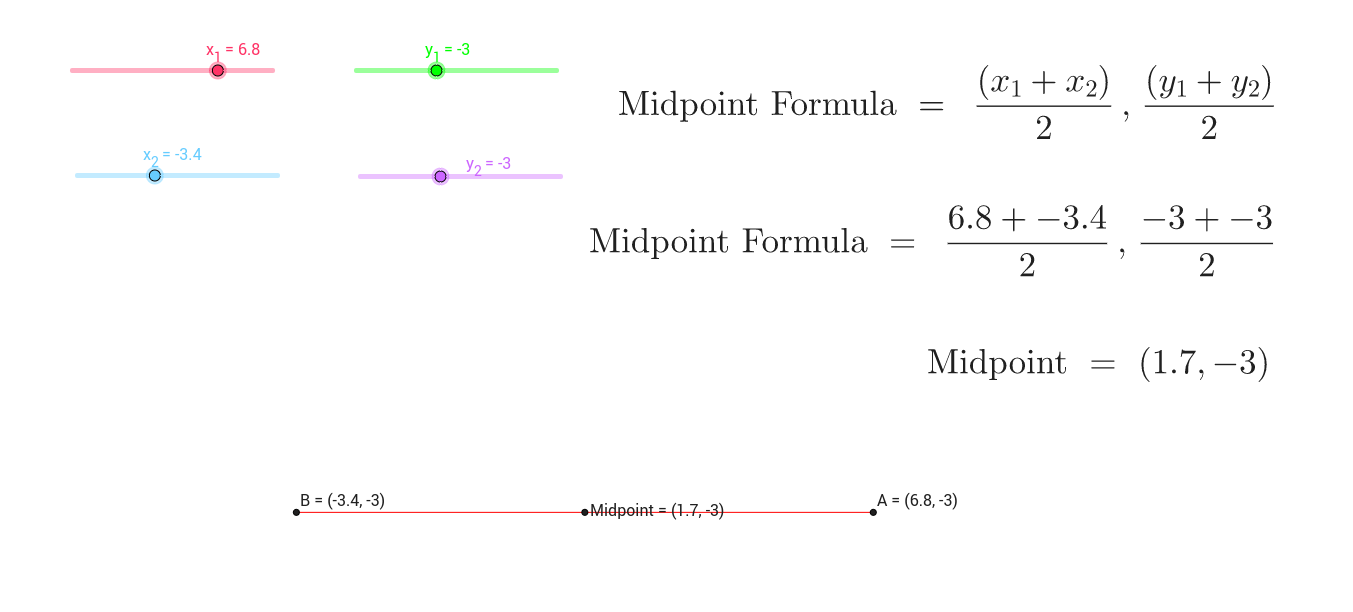 Midpoint Formula App - GeoGebra