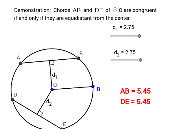 Congruent chords in a circle