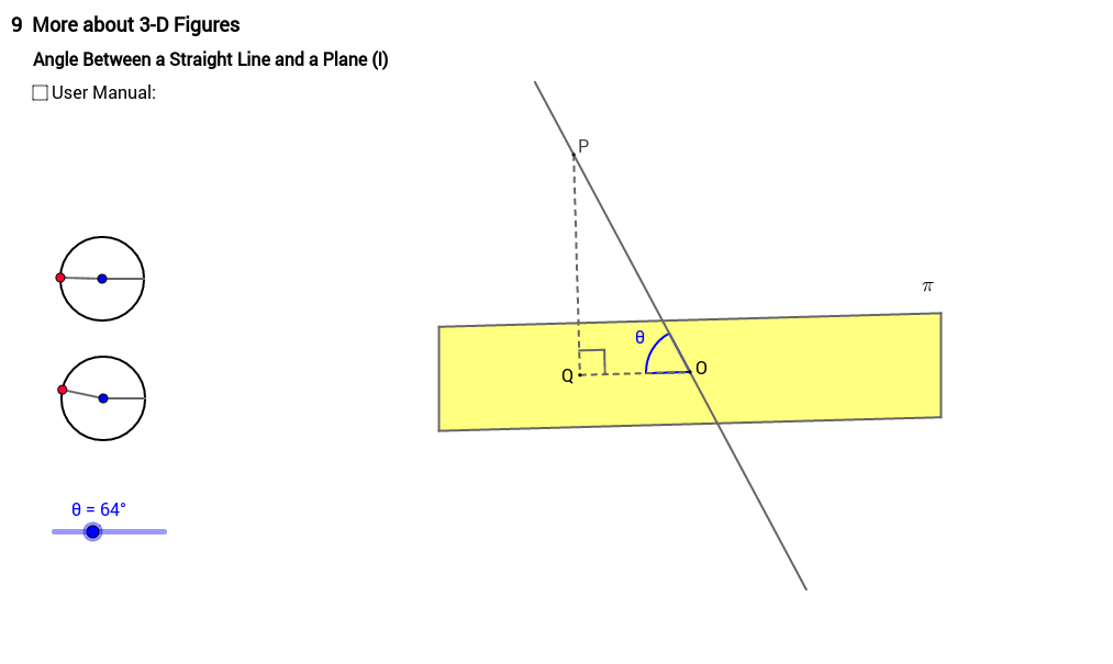 Angle between line and plane