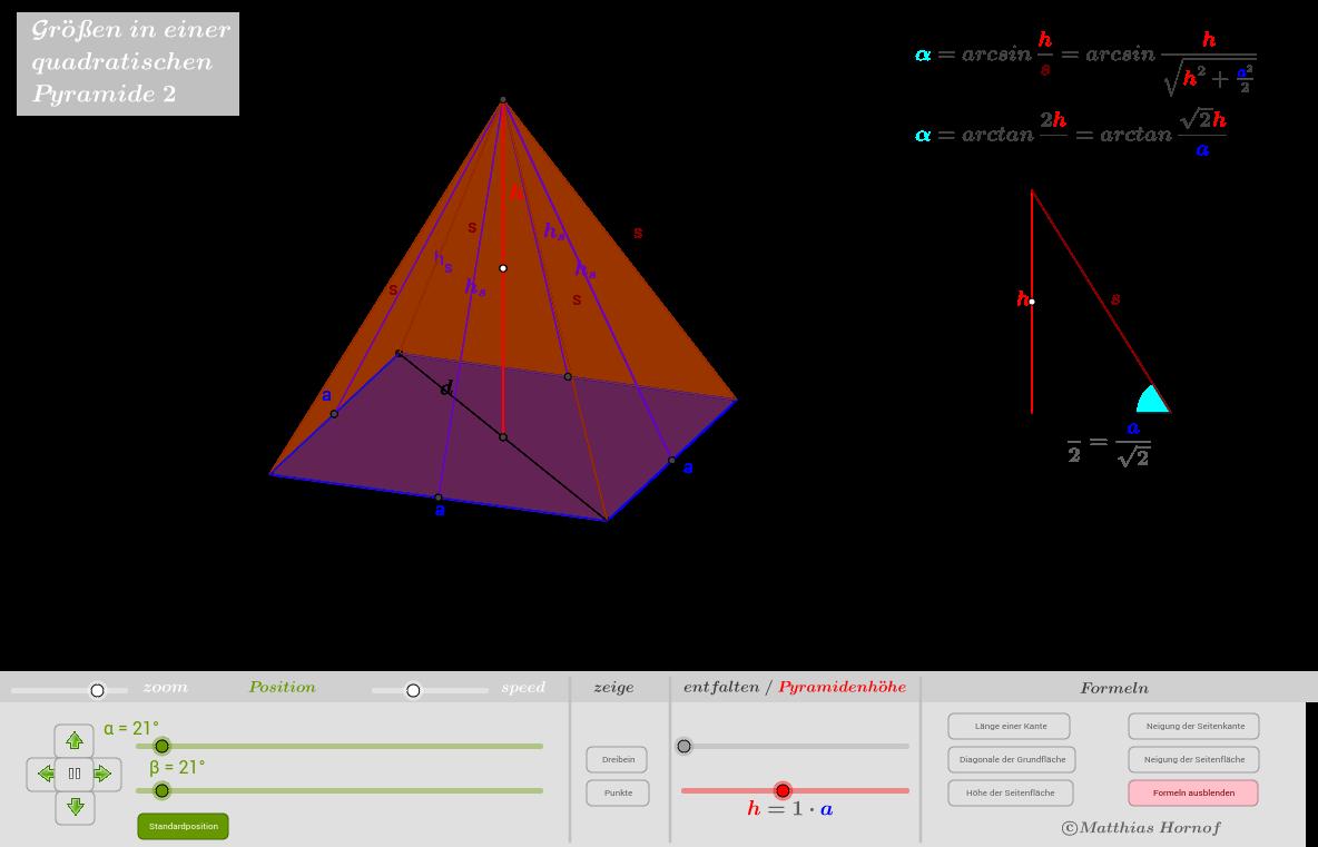 Quadratische Pyramide 2