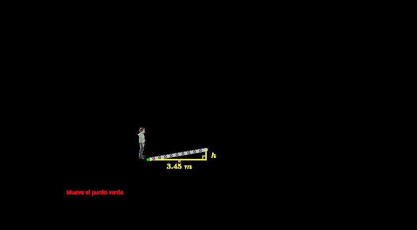 Cálculo de la altura de un farol
