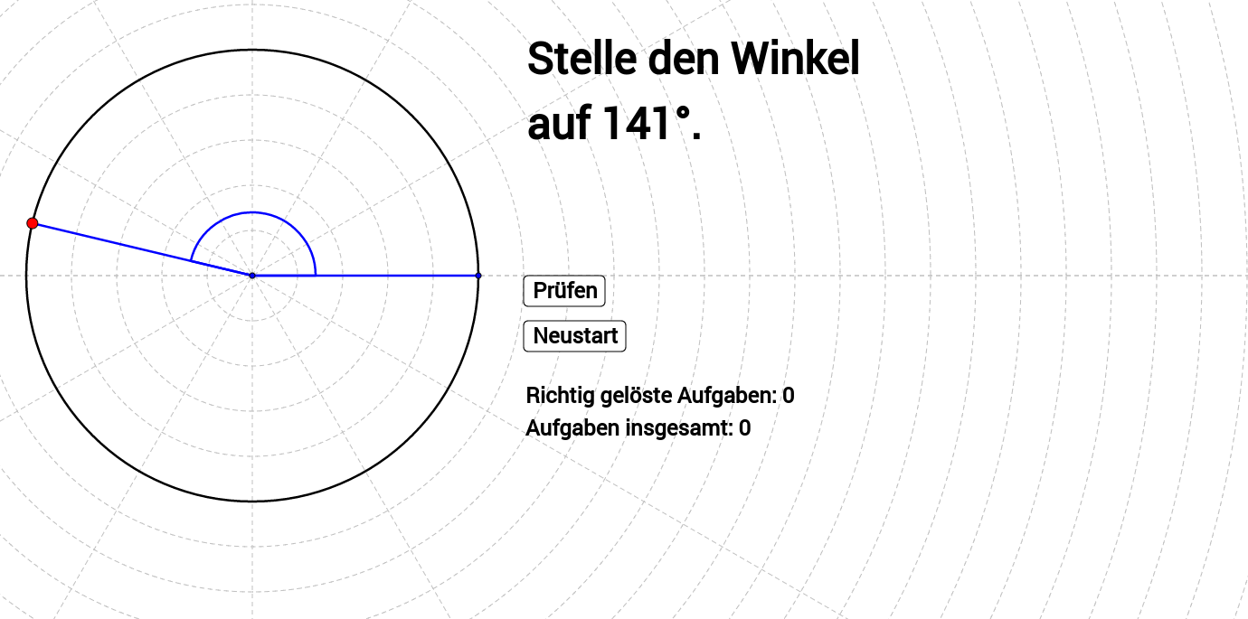 Winkel einstellen (0° bis 180°)