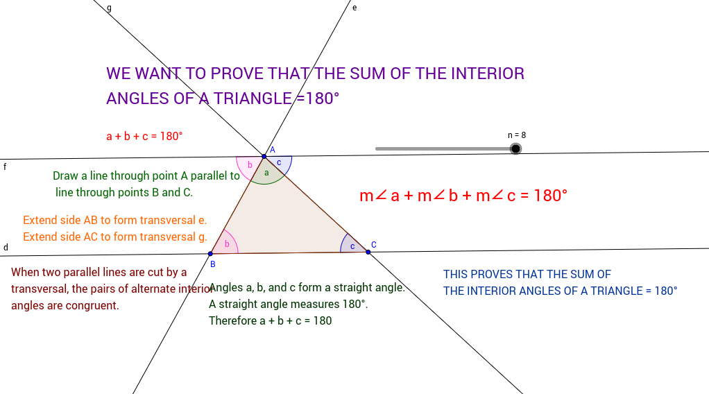 Triangle Angle Sum Theorem Proof