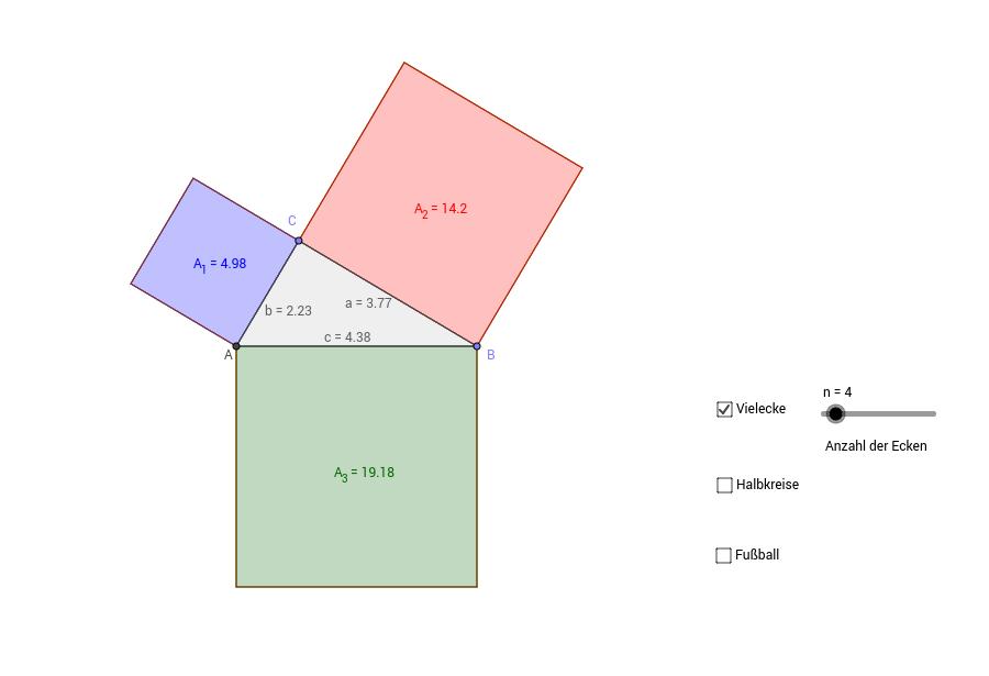 der satz des pythagoras geogebrabook. Black Bedroom Furniture Sets. Home Design Ideas