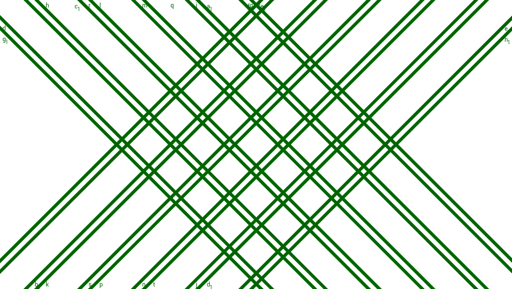 Animation of Tessellation with Square and Rectangle (Green)