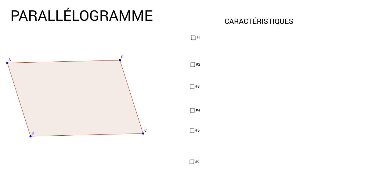 Propriétés du parallélogramme